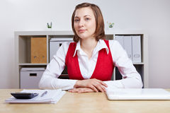 Human Resource manager doing job interviews Stock Image