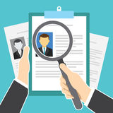 Human resource recruitment and selection. Vector illustration Stock Photos