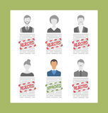 Human Resource and Resume, Flat Simple Icons Stock Photo