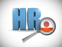 Human resource review illustration design Royalty Free Stock Photography