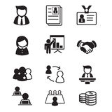 Human resource & staff  management icons Royalty Free Stock Image