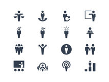 Human resource and strategy  icons Stock Photo
