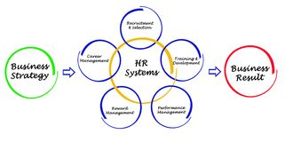 Human Resource Systems. Strategies and results Royalty Free Stock Photography