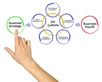 Human Resource Systems. Woman presenting Human Resource Systems Stock Photo