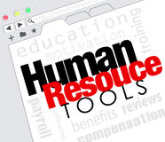 Human Resource Tools Online Internet Website Training Benefits M Stock Photos