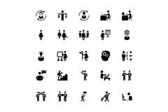 Human Resource Vector Icons 3 Stock Photography