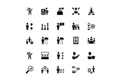 Human Resource Vector Icons 4 Royalty Free Stock Images