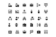 Human Resource Vector Icons 2 Stock Image