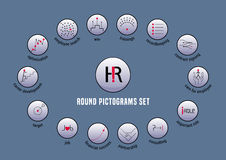 Human resource vector icons set Stock Photos