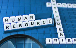 Human resources. Concept and key words on the game board
