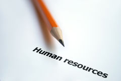 Human resources. Close up of human resources concept Stock Images