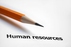 Human resources. Close up of human resources concept Royalty Free Stock Photo