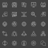 Human resources and business icons Royalty Free Stock Photos
