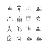 Human Resources Business Management Icon Set stock illustration