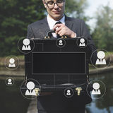 Human Resources Business Profession Graphic Concept. Business People Having Human Resources Business Profession royalty free stock photography
