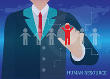 Human resources business. Royalty Free Stock Photo
