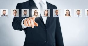 Human resources, career and recruitment concept stock photography