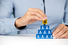 Human resources and CEO Royalty Free Stock Photos