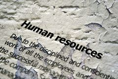 Human resources. Close up of Human resources Stock Photo