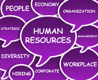 Human Resources cloud Royalty Free Stock Images
