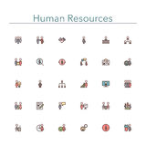 Human Resources Colored Line Icons Royalty Free Stock Images