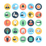 Human Resources Colored Vector Icons 3 Stock Images