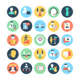 Human Resources Colored Vector Icons 4 Stock Photo