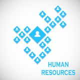 Human Resources concept. Business structure. Vector illustration
