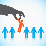 Human Resources concept. Choosing the perfect candidate for the job Stock Image
