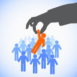 Human Resources concept. Choosing the perfect candidate for the job Royalty Free Stock Images