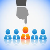 Human Resources concept. Choosing the perfect candidate for the job Stock Images