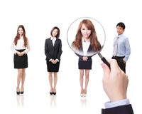 Human Resources concept. Choosing the perfect candidate for the job, model are asian people Stock Images