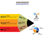 Human resources concept infographic vector icon. This graphic also represents hiring, choice of candidates, search for the best, attrition, lateral recruitment Royalty Free Stock Image