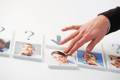 Human Resources. Concept. Portraits of a group of business people stock images