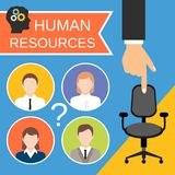 Human Resources Concept royalty free illustration