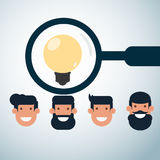 Human resources concept . Scanning and looking for the best employee. Stock Image