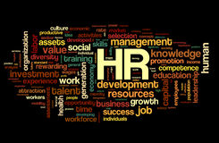 Human resources concept in tag cloud Royalty Free Stock Photo