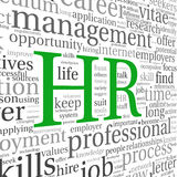Human resources concept in tag cloud Stock Image