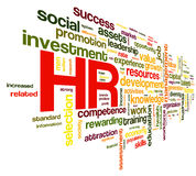 Human resources concept in tag cloud Royalty Free Stock Images