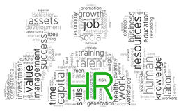 Human resources concept in tag cloud Stock Photo
