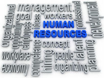 Human Resources concept in tag cloud on white background Stock Photo