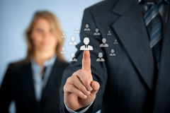 Human resources and CRM Royalty Free Stock Photo