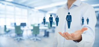 Human resources and customer care Royalty Free Stock Images