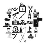 Human resources department icons set, simple style. Human resources department icons set. Simple set of 25 human resources department vector icons for web Stock Image