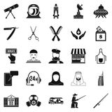 Human resources department icons set, simple style Stock Images