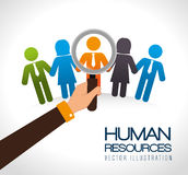 Human Resources Design. Royalty Free Stock Image