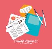 Human resources design Stock Image
