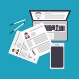 Human resources design Stock Photos