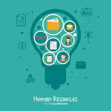 Human resources design Royalty Free Stock Photo