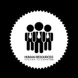 Human resources design Royalty Free Stock Photo